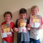 Beavers with their Chief Scouts Bronze awards.