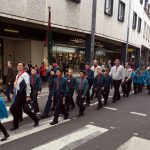 Scouts marching.