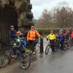 Just after setting off.